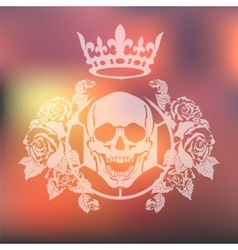 Skull roses and karon vector