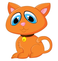 Cartoon adorable cat posing vector