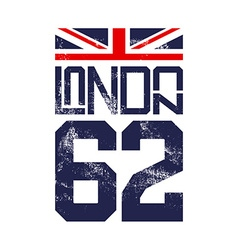 Print for t-shirts english flag london vector