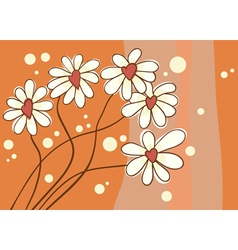 Background with love chamomile vector