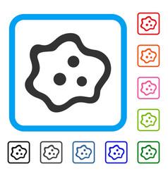 Amoeba framed icon vector