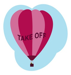 Balloon take off vector