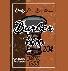 color vintage barber shop banner vector image