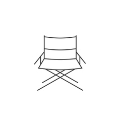 Directors chair line icon vector