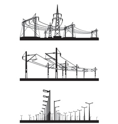 Electrical installations set vector