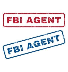Fbi agent rubber stamps vector