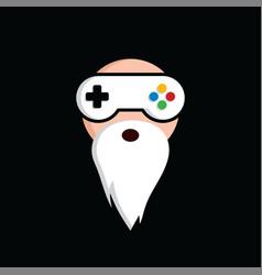 Game guru - master gamer - video game theme logo vector