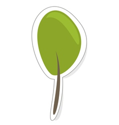 Green tree sign icon sticker or modern logo vector image vector image