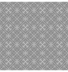 Grey Ornamental Seamless Line Pattern vector image vector image