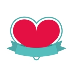 heart red isolated icon design vector image vector image
