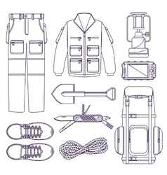 Hiking set vector image