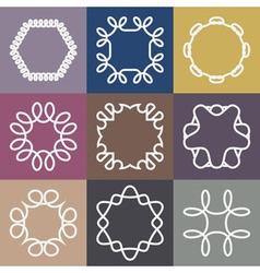 Hipster Frames Design Templates Set vector image