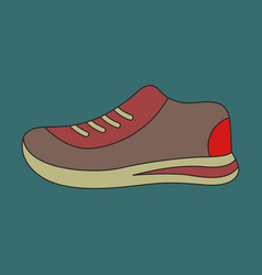 Icon in flat design sports shoes vector