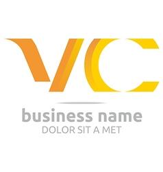 Letter v combination c lettemark design vector