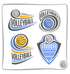 Logo volleyball ball vector