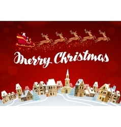 Merry christmas xmas greeting card vector