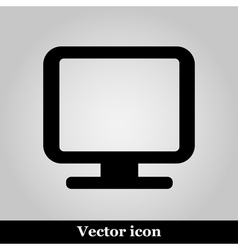Monitor icon isolated on back vector image vector image