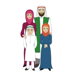 Muslim family concept flat style vector