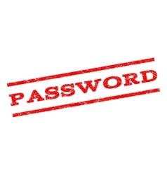 Password watermark stamp vector