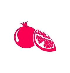 Pomegranate or garnet icon simple style vector image