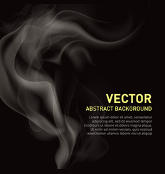 realistic of smoke on black vector image vector image