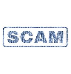 Scam textile stamp vector