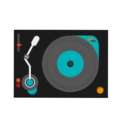 small turntable icon vector image