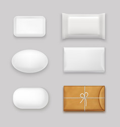 Soap bars set vector