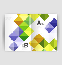 Square leaflet business a4 print template vector