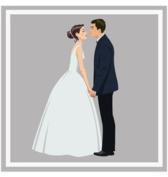 Wedding couple in love vector