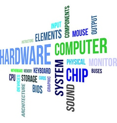 word cloud hardware vector image vector image