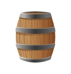 Isolated barrel of wood design vector