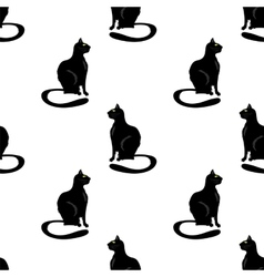 Cat seamless pattern vector