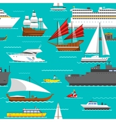 Sea transport pattern vector