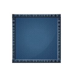 Isolated denim frame design vector