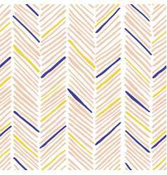 trendy simple seamless many zigzag pattern vector image
