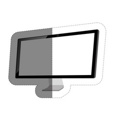 Monitor computer icon vector
