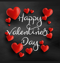valentines day background with 3d hearts vector image