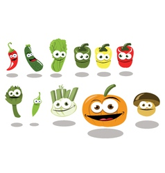 Funny vegetables part 2 vector