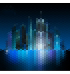 Night city abstract mosaic background vector image