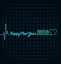 2018 greeting for new year celebration with vector