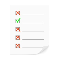 Check list vector image