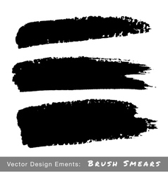 Set of hand drawn grunge brush smears vector