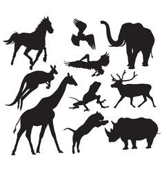 Animals silhouette vector