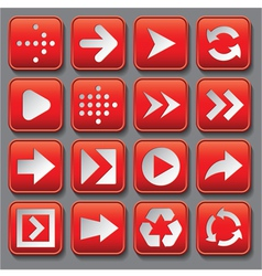 Set of stylized buttons with different arrows vector