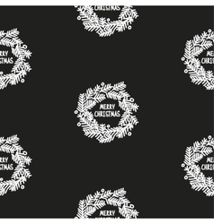 Hand drawn christmas seamless pattern blackboard vector