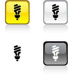 Fluorescent bulb button vector