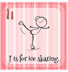 Ice skating vector