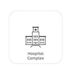 Hospital complex icon vector