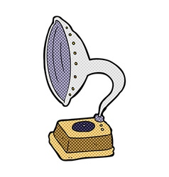 Comic cartoon phonograph vector